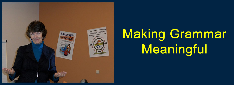 Make Grammar Meaningful workshop includes: